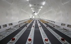 View of the interior of a fully converted Airbus A321 freighter at an ST Engineering hangar in Singapore December 2, 2020. REUTERS