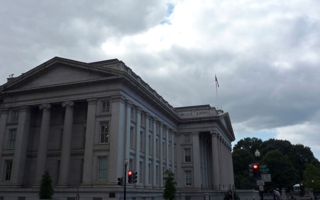 The US Treasury building is seen in Washington, September 29, 2008. Reuters