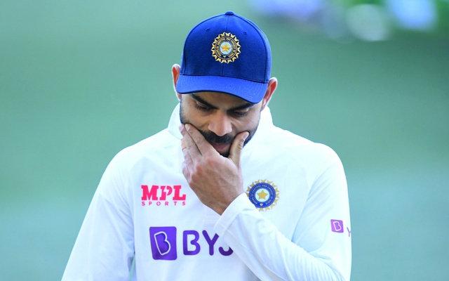 Indian captain Virat Kohli is seen following Australias victory on day 3 of the first test match between Australia and India at Adelaide Oval, Adelaide, Australia, December 19, 2020. AAP Image/Dave Hunt via REUTERS
