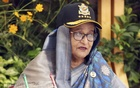 Prime Minister Sheikh Hasina joined the President Parade in Air Force Academy in Jashore via video conference from the Ganabhaban in Dhaka on Sunday, Dec 20, 2020. Photo: PMO
