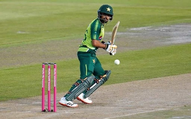 Third T20 International - England v Pakistan - Emirates Old Trafford, Manchester, Britain - September 1, 2020 Pakistan's Babar Azam in action Jon Super/Pool via REUTERS