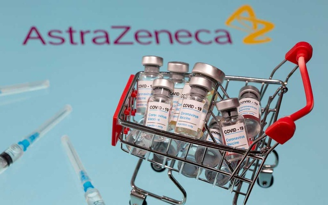 A small shopping basket filled with vials labelled