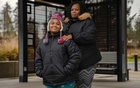 Shereese Rhodes, a single mother, and her daughter Maya Janae, who has not returned to the classroom since her school closed in March due to the coronavirus, at a park in Covington, Wash., Dec. 10, 2020. The New York Times