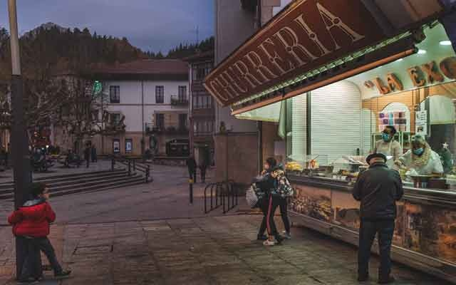 The local churrería in the Mondragon, Spain, Dec 14, 2020. The New York Times