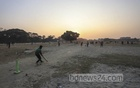 Boys enjoy a game of cricket at an empty ground at Sher-e-Bangla Nagar, where the Dhaka International Trade Fair had been held from Jan 1 every year. The authorities have moved the venue to Purbachal this year. Photo: Asif Mahmud Ove