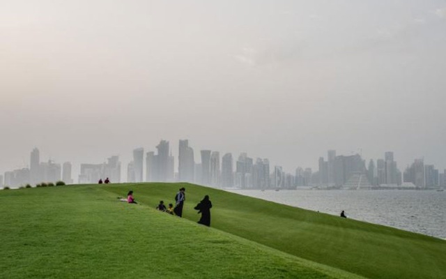 A park in Doha, Qatar's capital, July 15, 2017. After a rift that has fractured the Arab world and tested American diplomacy for more than three years, Saudi Arabia was set to reopen borders and airspace to Qatar on Monday night after boycotting it since 2017, Kuwait's foreign minister announced Monday, Jan. 4, 2020. (Tomas Munita/The New York Times)