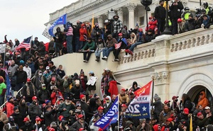 Supporters of President Donald Trump gather in front of the U.S. Capitol Building in Washington, U.S. Jan 6, 2021. REUTERS