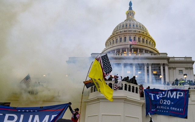 Supporters of President Donald Trump storm the US Capitol in Washington, Jan. 6, 2021. Many of Trump's sympathisers tried to shift the focus away from the mob scene in Washington on Wednesday. (Kenny Holston/The New York Times)