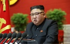 North Korean leader Kim Jong Un speaks on the first day of the 8th Congress of the Workers' Party in Pyongyang, North Korea on Jan 6, 2021. REUTERS