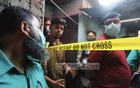 Members of the police's Criminal Investigation Department collected pieces of evidence from a house near Purbo Nakhalpara Samiti Bazar in Dhaka's Tejgaon on Saturday, Jan 9, 2021 after a man allegedly killed his wife and sister-in-law. Photo: Asif Mahmud Ove