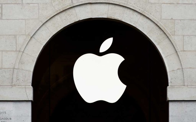 Apple logo is seen on the Apple store at The Marche Saint Germain in Paris, France July 15, 2020. REUTERS