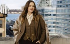 Drew Barrymore on the roof of the CBS building in New York, Dec 7, 2020. Barrymore — actress, producer, director, author, Golden Globe winner, former emancipated minor, three-time ex-wife, two-time mother and beauty entrepreneur — is now hosting her own talk show. (Molly Matalon/The New York Times)