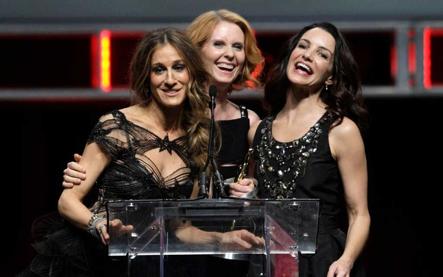 """The three actresses from """"Sex and the City"""" who will reprise their original characters in a new series — from left to right, Sarah Jessica Parker, Cynthia Nixon and Kristin Davis. Steve Marcus/Reuters"""
