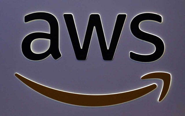 The logo for Amazon Web Services (AWS) is seen at the SIBOS banking and financial conference in Toronto, Ontario, Canada October 19, 2017. REUTERS
