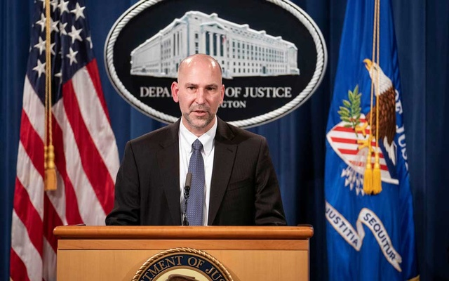 Steven D'Antuono, head of the Federal Bureau of Investigation (FBI) Washington field office, speaks during a news conference at the US Department of Justice in Washington, DC, US, January 12, 2021. The acting attorney for Washington and FBI provided an update on criminal charges related to the Jan 6 siege at the US Capitol. REUTERS