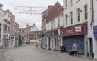 Downtown Gainsborough, England, Nov. 26, 2020. Hundreds of thousands of insured businesses will be paid for lost earnings after the coronavirus lockdowns forced them to close, ending a long-running battle with insurance companies. (Andrew Testa/The New York Times)
