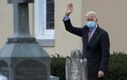 US President-elect Joe Biden waves as he departs church in Wilmington, Delaware, US, January 16, 2021. REUTERS