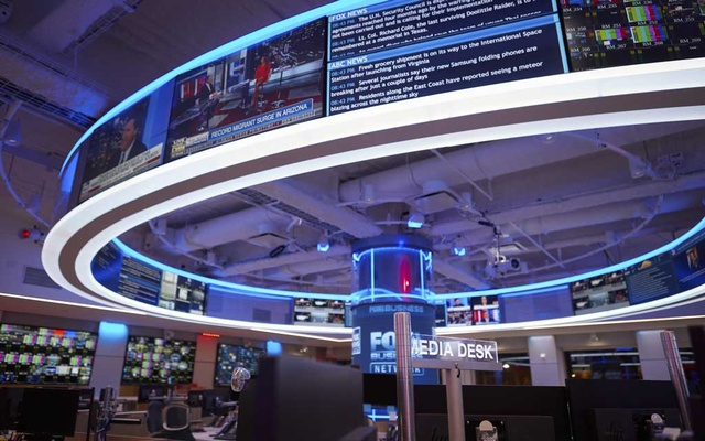 The Fox News newsroom in New York, April 17, 2019. The New York Times
