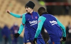 Spanish Super Cup Final - FC Barcelona v Athletic Bilbao - Estadio La Cartuja de Sevilla, Seville, Spain - January 17, 2021 Barcelona's Antoine Griezmann during the warm up before the match REUTERS/Marcelo Del Pozo