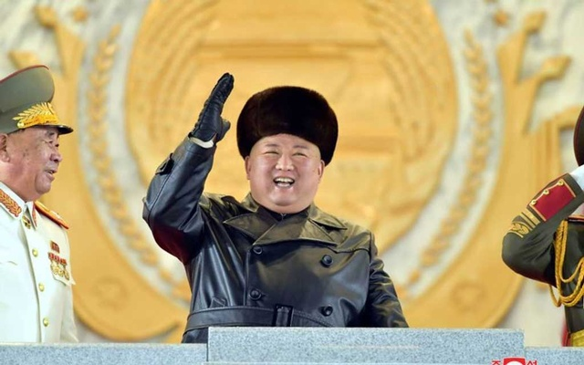 FILE PHOTO: North Korean leader Kim Jong Un waves during a ceremony for the 8th Congress of the Workers' Party in Pyongyang, North Korea January 14, 2021 in this photo supplied by North Korea's Central News Agency (KCNA). KCNA via REUTER