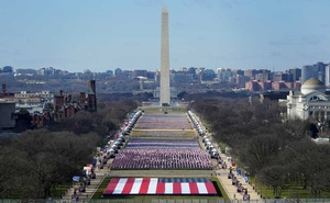 A view of the National Mall ahead of the 59th Presidential Inauguration in Washington, DC, US January 19, 2021. REUTERS