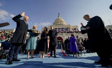 Masks, social distancing and a field of flags: Biden's inauguration amid pandemic