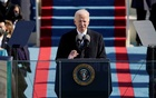 President Joe Biden speaks during the 59th Presidential Inauguration at the U.S. Capitol in Washington, Jan 20, 2021. REUTERS