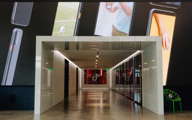 A lobby area at TikTok's office in Culver City, Calif, on Sept 8, 2020. The Chinese owner of TikTok is still negotiating with the Trump administration over the app's sale.