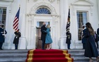 President Joe Biden and first lady Jill Biden embrace before entering the White House on Inauguration Day in Washington, Jan 20, 2021. The New York Times