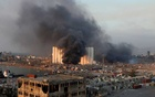 Smoke rises from the site of an explosion in Beirut's port area, Lebanon August 4, 2020. Reuters