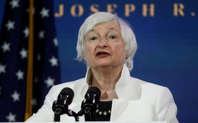 Janet Yellen, US President-elect Joe Biden's nominee to be treasury secretary, speaks as Biden announces nominees and appointees to serve on his economic policy team at his transition headquarters in Wilmington, Delaware, US, Dec 1, 2020. REUTERS