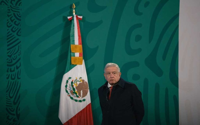 President Andrés Manuel López Obrador of Mexico during a news conference at the National Palace in Mexico City, Jan 12, 2021. The New York Times