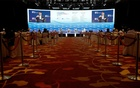 General view of a conference held by the Institute of Policy Studies at Marina Bay Sands Convention Centre in Singapore January 25, 2021. REUTERS