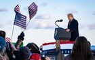 President Donald Trump speaks to supporters before boarding Air Force One for the last time at Joint Base Andrews in Maryland on Wednesday morning, Jan. 20, 2021, hours before the presidential inauguration of Joe Biden. The New York Times