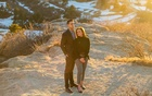"Peter Golembiewski and Brittany Riley, both flight attendants, near their home in Colorado. ""I don't know how a lot of us are going to make it,"" Ms Riley said, without a comprehensive relief plan. Credit...Daniel Brenner for The New York Times"