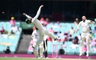 Matthew Wade of Australia with a big stretching dive failing to catch Hanuma Vihari of India during day three of the third Test match between Australia and India at the SCG, Sydney, Australia, January 9, 2021. REUTERS