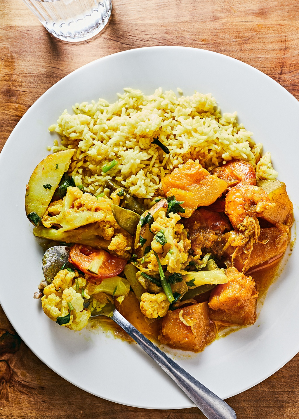 A dish at Korai Kitchen, a buffet-style Bangladeshi restaurant in Jersey City, Dec 8, 2018. Bangladeshi cuisine is relatively rare in the United States; Korai's small menu is more akin to home cooking. Here, clockwise from top, khichuri, pumpkin shrimp curry and mixed vegetables cooked in spice. (Jenny Huang/The New York Times)