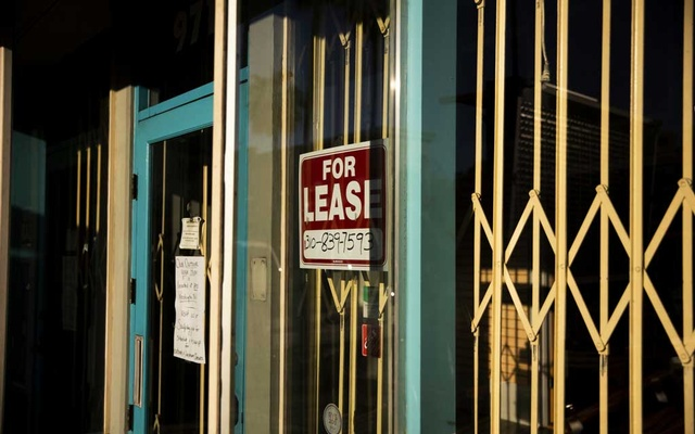 A closed-up storefront in Culver City, Calif, Jan 20, 2021. The New York Times