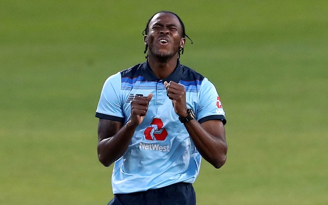 England's Jofra Archer reacts during the second one-day international v Australia - Emirates Old Trafford, Manchester - September 13, 2020. REUTERS