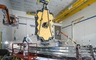 In a photo provided by NASA, final tests of the James Webb Space Telescope's sunshield at a Northrop Grumman facility in Redondo Beach, Calif, in December 2020. NASA via The New York Times