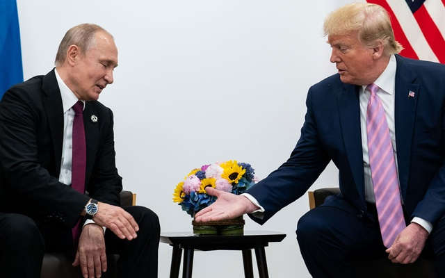 President Donald Trump meets with President Vladimir Putin of Russia during the G20 summit in Osaka, Japan, June 28, 2019. The New York Times