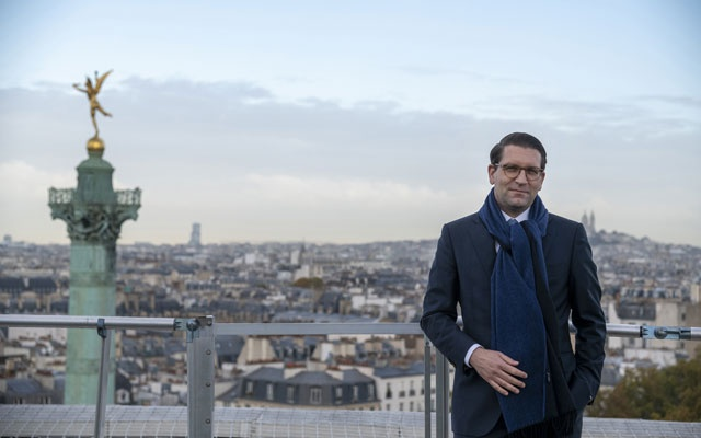 Alexander Neef, the director of the Paris Opera, on the roof of the Opera Bastille in Paris, Nov 3, 2020. On Monday, Feb 8, 2021, the Paris Opera published a 66-page report on diversity at the company, focused on its ballet. The New York Times