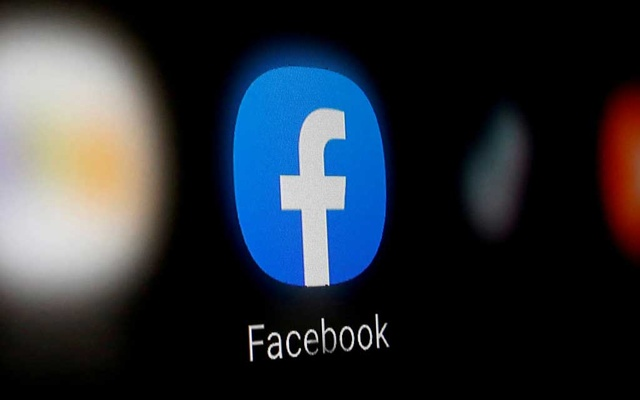 A Facebook logo is displayed on a smartphone in this illustration taken January 6, 2020. REUTERS