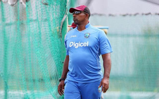 West Indies head coach Phil Simmons during nets action. REUTERS