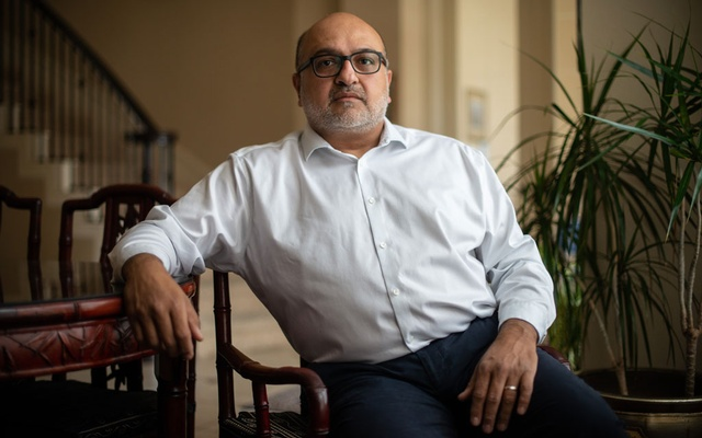 Dr Hasan Gokal, who was fired after distributing 10 vaccine doses after hours rather than letting them go to waste, at home in Sugar Land, Texas, Feb 9, 2021. The New York Times