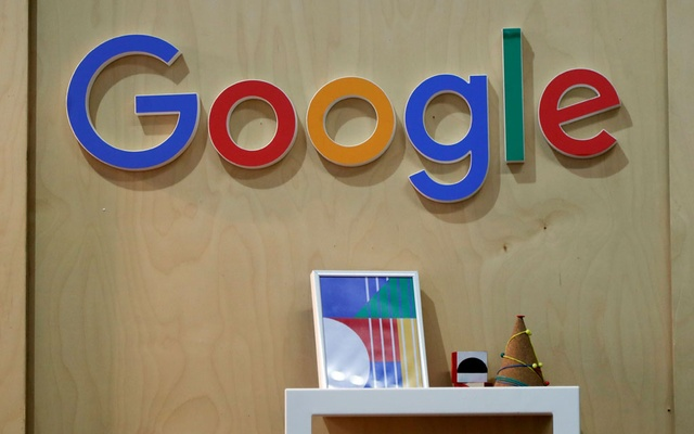 The Google logo is seen at the Young Entrepreneurs fair in Paris, France, February 7, 2018. Reuters