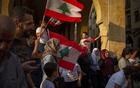 A demonstration in Beirut, Oct 20, 2019, where huge protests failed to change Lebanon's corrupt, sectarian political system. The New York Times