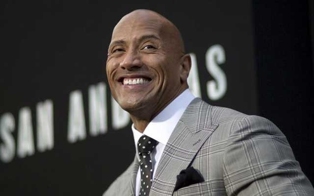 Cast member Dwayne Johnson poses at the premiere of
