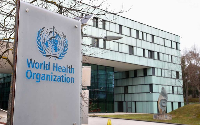 A logo is pictured outside a building of the World Health Organisation (WHO) during an executive board meeting on update on the coronavirus outbreak, in Geneva, Switzerland, February 6, 2020. REUTERS