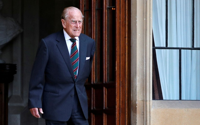 Britain's Prince Philip arrives for the transfer of the Colonel-in-Chief of the Rifles at Windsor Castle in Britain July 22, 2020. Adrian Dennis/Pool via REUTERS